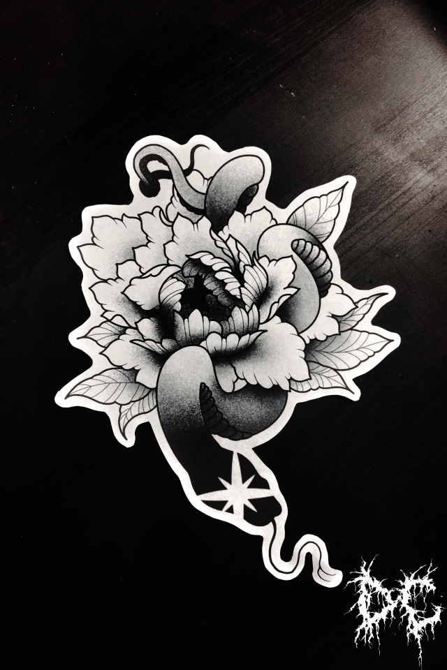 Dobry Chłopiec Tattoo Lublin - tatuaż kwiat wzory projekt